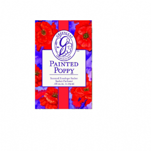 Greenleaf Small Scented Sachet - Painted Poppy